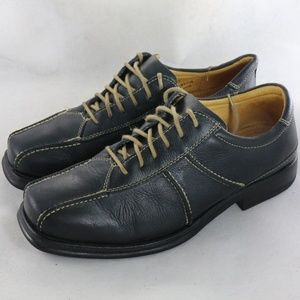 SANDRO Comfort Gel Casual Black Leather Oxfords